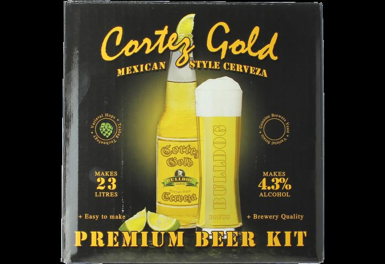 Kit à bière - Kit à bière Bulldog Cortez Gold Mexican Cerveza