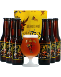 Gift box with beer and glass - Cuvée des Trolls Giftpack - 6x33cl + 1 glas