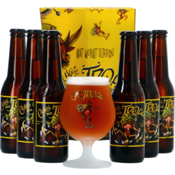 Gift box with beer and glass - Cuvée des Trolls Gift Pack (6 25cl Beers + 1 Beer Glass)
