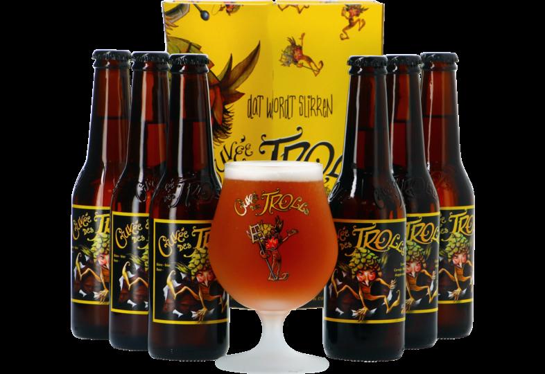 Biercadeaus met glas - Cuvée des Trolls Giftpack - 6x33cl + 1 glas