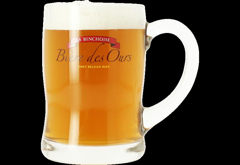 Verres à bière - Chope La binchoise Bière Des Ours