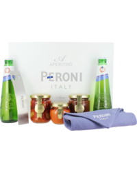Gift box with beer and glass - Peroni Aperitivo Box
