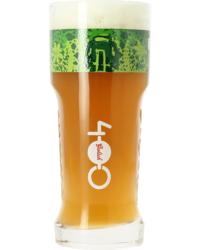 Bierglazen - Grolsch glas 400 jaar groen logo