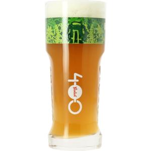 Grolsch glas 400 jaar groen logo