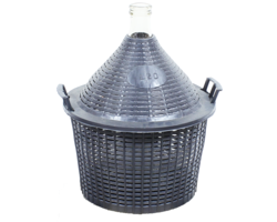Dames-Jeannes - 20-litre standard neck demijohn with basket