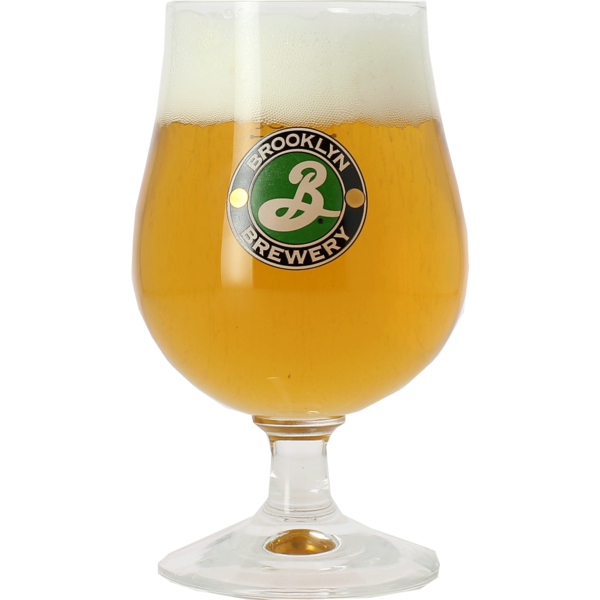 Brooklyn Brewery beer glass - green logo