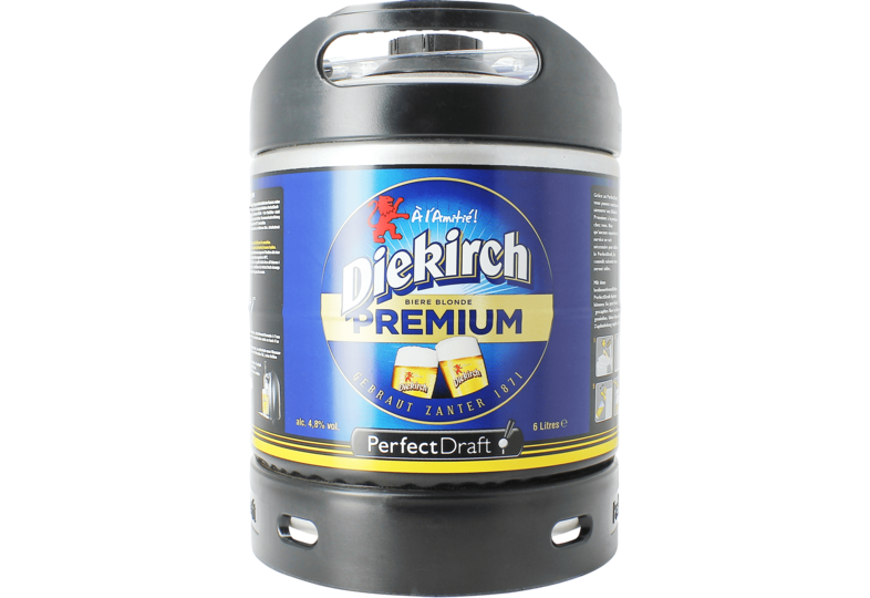 Bier Tapvatjes - Diekirch Premium PerfectDraft Vat 6L