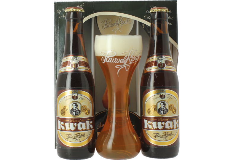 Coffrets cadeaux verre et bière - Confezione regalo Kwak (2 birre, 1 bicchiere)