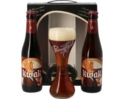 Coffrets cadeaux verre et bière - Coffret Kwak (2 bières, 1 verre)