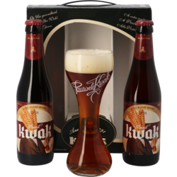 Gift box with beer and glass - Kwak Gift Pack - 2 beers + 1 glass