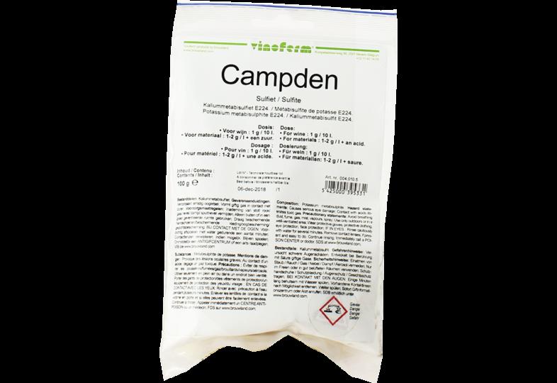 Additifs de brassage - Kaliummetabisulfiet / Campden Poeder 100g