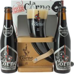 Gift box with beer and glass - Gift Pack La Corne du Bois des Pendus Black