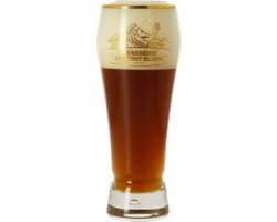 Verres à bière - Verre Mont Blanc col doré - 25 cl