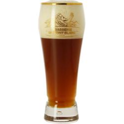 Biergläser - Verre Mont Blanc col doré - 25 cl