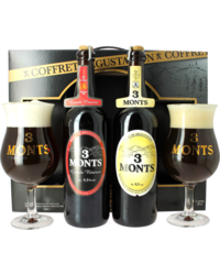 Gift box with beer and glass - 3 Monts Tasting Gift Pack