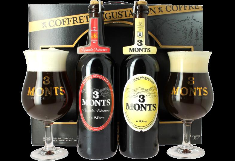 Coffrets cadeaux verre et bière - Confezione regalo 3 Monts degustatione