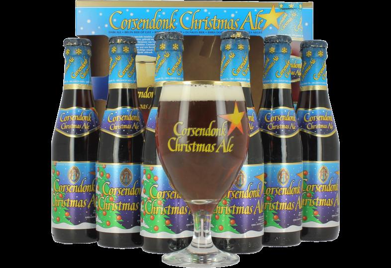 Coffrets cadeaux verre et bière - Coffret Corsendonk Christmas (6 bières, 1 verre)