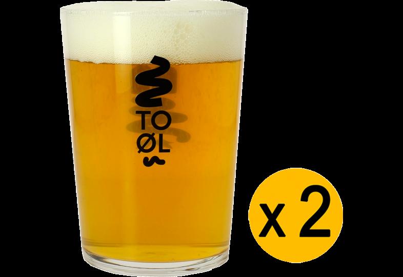 Verres à bière - Pack 2 Verres To Øl Bodega
