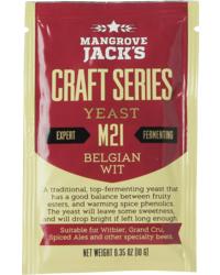 Levures pour fermentation - Levure Mangrove Jack's Belgian Wit M21 10g