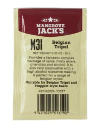 Levures pour fermentation - Levure Mangrove Jack's Belgian Tripel M31 10g