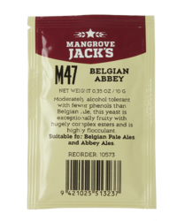Levures pour fermentation - Levure Mangrove Jack's Belgian Abbey M47 10g