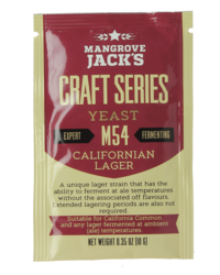 Levures de brassage - Mangrove Jack's California Lager M54 yeast 10g