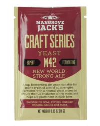 Levures pour fermentation - Levure Mangrove Jack's New World Strong Ale M42 10g