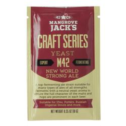 Levures de brassage - Mangrove Jack's New World Strong Ale M42 yeast 10g