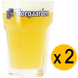 Ölglas - 2 Hoegaarden 33cl glasses