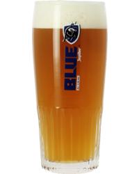 Bierglazen - Glas Jupiler Blue voetglas - 25 cl