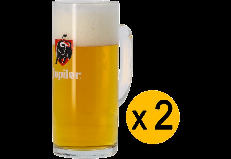 Beer glasses - 2 Jupiler Bock 50cl glasses