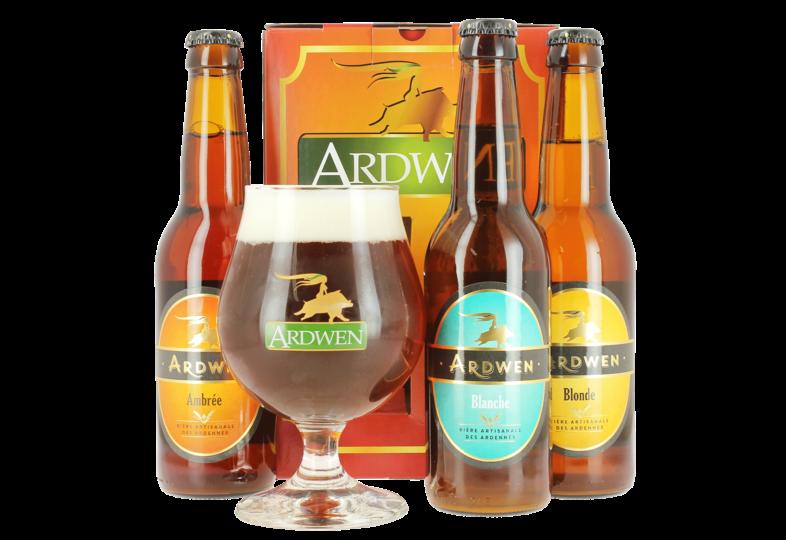 Coffrets cadeaux verre et bière - Coffret Ardwen (3 bières, 1 verre)