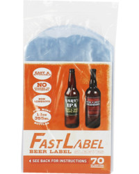 Embouteiller et capsuler - Etiketten FastLabel voor flessen 33 cl 70 stuks