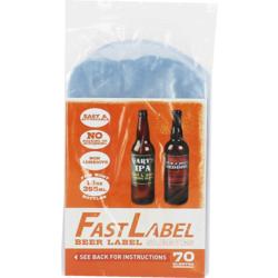 Embouteiller et capsuler - Etiquettes FastLabel pour bouteilles 33 cl  - 70 pièces