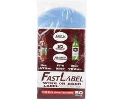 Matériel et produits pour remplir les bouteilles - Etiquettes FastLabel pour bouteilles 75 cl 50 pieces