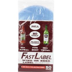 Embouteiller et capsuler - Etiquettes FastLabel pour bouteilles 75 cl - 50 pièces