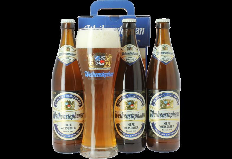 Coffrets cadeaux verre et bière - Coffret Weihenstephaner