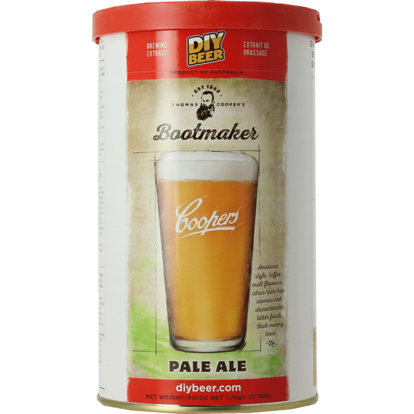Coopers Pale Ale Bootmaker Beer Kit