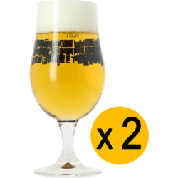 Ölglas - 2 Basqueland Brewing Munich glasses - 33 cl