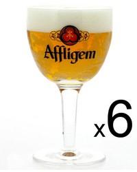 Lot de verre à bière - 6 verres Affligem - 25 cl