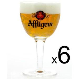 6 verres Affligem - 25 cl