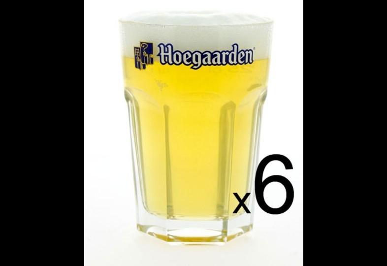 Beer glassware set - 6 glasss Hoegaarden - 25 cl