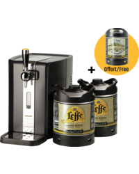 Bierzapfanlagen - Party Pack PerfectDraft - Zapfanlage + 2 Leffe Blonde 6L