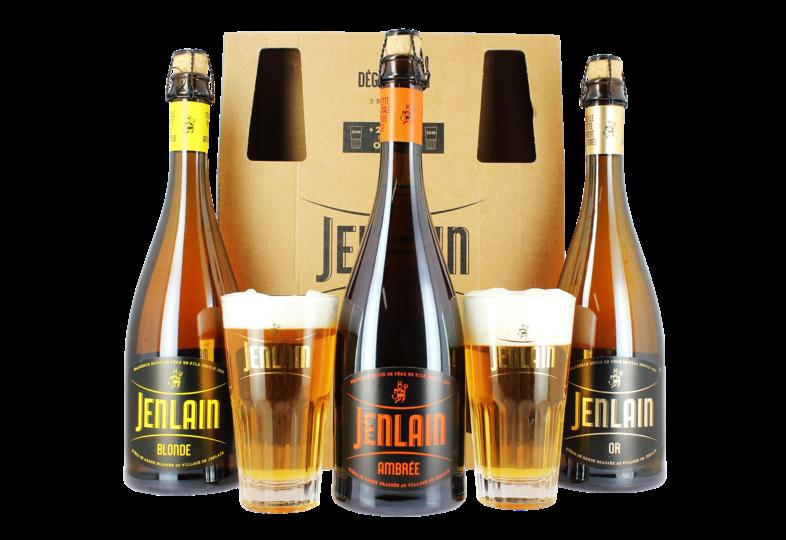 Accueil - Coffret Jenlain (3 bières 75cl + 2 verres)
