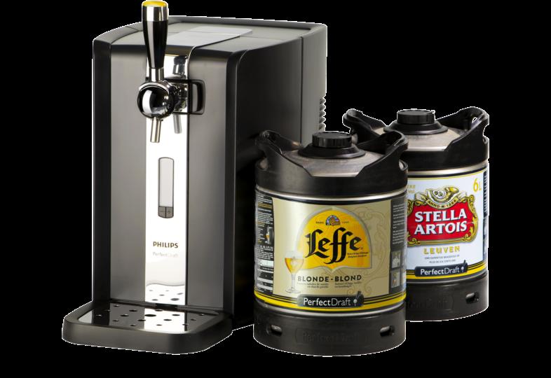 Spillatore per birra - Party Pack PerfectDraft - Spillatrice + 1 Fusto Leffe & 1 Fusto Stella Artois