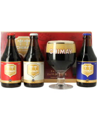 Gift box with beer and glass - Giftpack Trilogie Chimay (3 Flessen + 1 Glas)