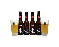 Bottled beer - 4 Iki Beer + 2 glasss