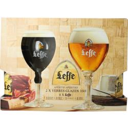 Accessoires et cadeaux - Coffret Leffe (4 bières 2 verres)