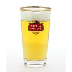 Ölglas - glass Stella Artois à fond plat
