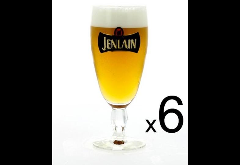 Lot de verre à bière - 6 verres Jenlain - 25 cl